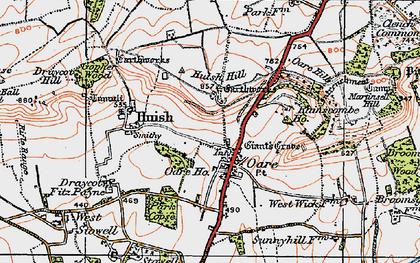 Old map of Oare in 1919