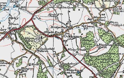 Old map of Ockham in 1920