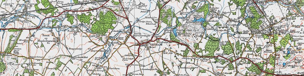 Old map of Odiham in 1919