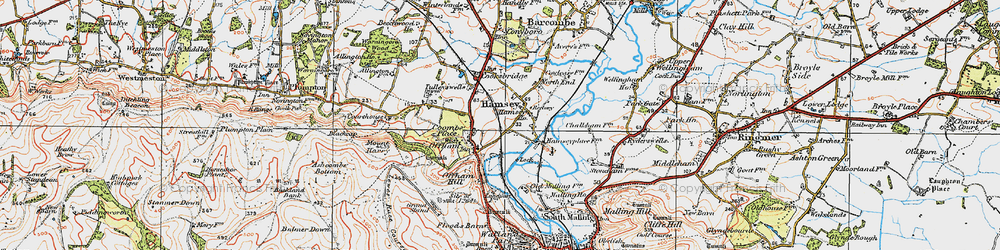 Old map of Offham in 1920