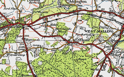 Old map of Aldon in 1920