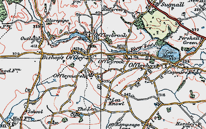 Old map of Lea Knowl in 1921
