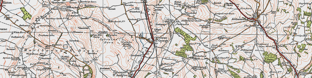 Old map of Yielding Copse in 1919