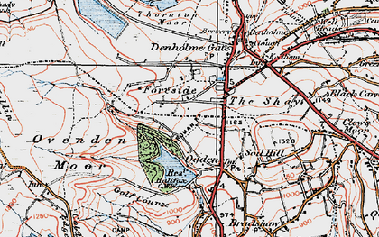 Old map of Ogden in 1925