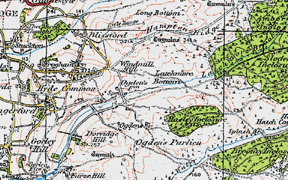 Old map of Alderhill Inclosure in 1919