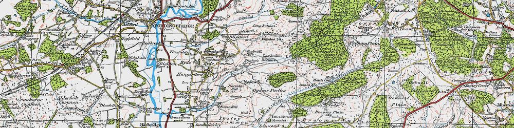 Old map of Alderhill Inclosure in 1919