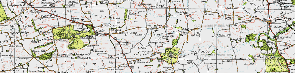 Old map of West Thorn in 1925