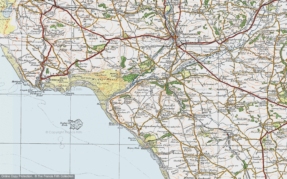 Old Map of Ogmore, 1922 in 1922