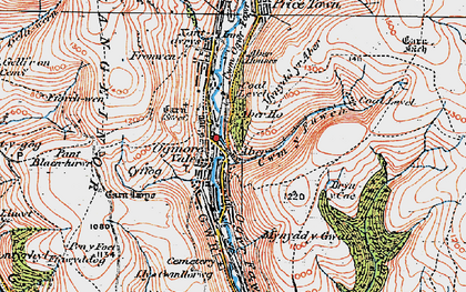Old map of Aber Ho in 1922