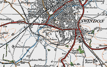Old map of Westleaze in 1919