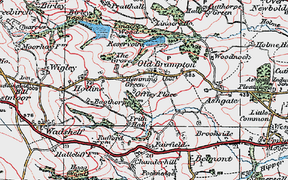 Old map of Linacre Wood in 1923
