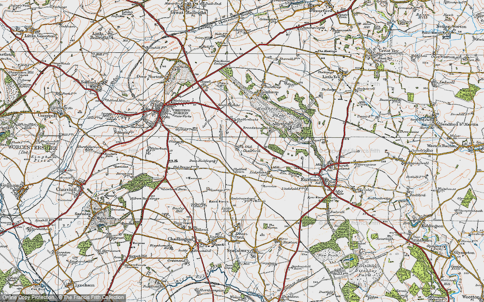 Old Map of Old Chalford, 1919 in 1919