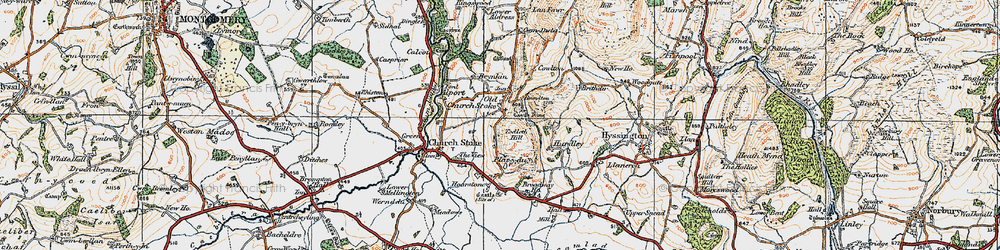 Old map of Todleth Hill in 1921