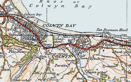 Old map of Old Colwyn in 1922