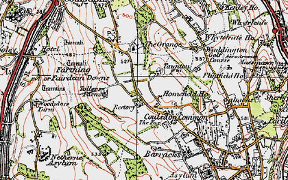 Old map of Old Coulsdon in 1920