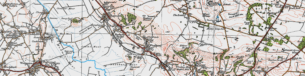 Old map of Westbury Beacon in 1919