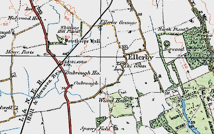 Old map of Wood Hall in 1924