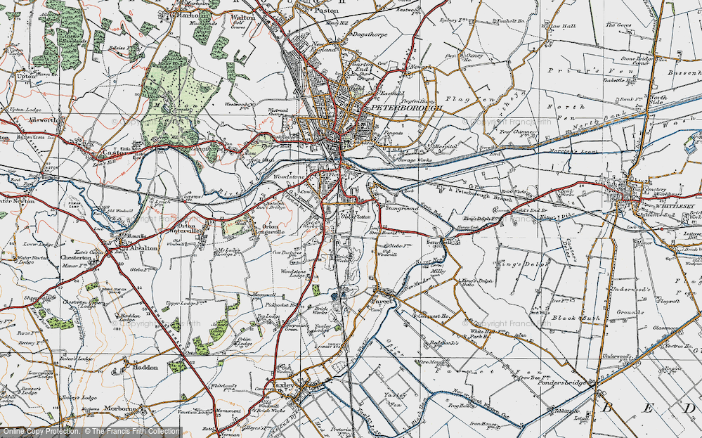Old Map of Old Fletton, 1922 in 1922