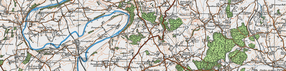 Old map of Yatton Wood in 1919