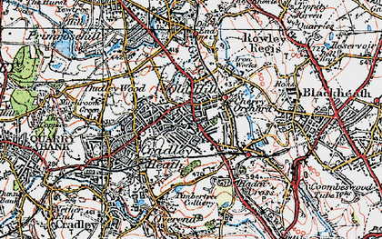 Old map of Old Hill in 1921