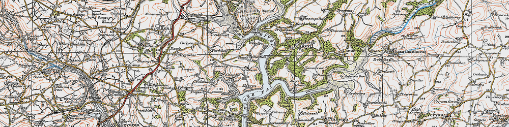 Old map of Tolvern Cott in 1919