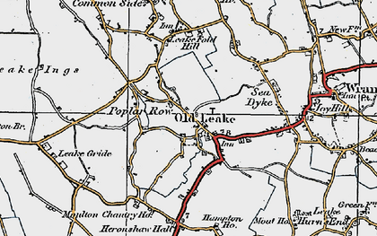 Old map of Leverton Ings in 1922