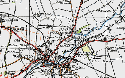 Old map of Abbey Ho, The in 1924