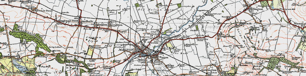 Old map of Old Malton in 1924