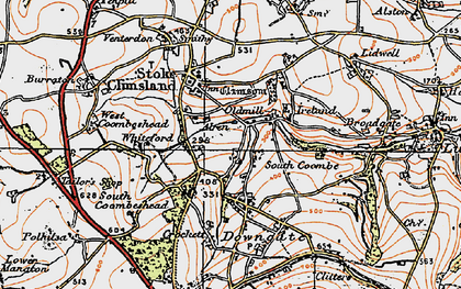 Old map of Old Mill in 1919