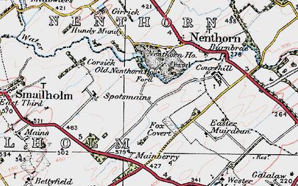 Old map of Wester Muirdean in 1926