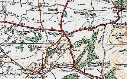 Old map of Old Radnor in 1920