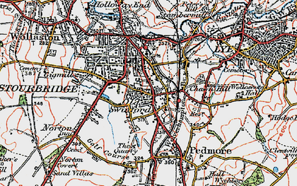 Old map of Old Swinford in 1921