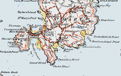 Old map of Old Town in 1919