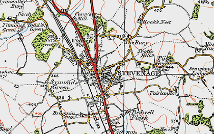 Old map of Old Town in 1920