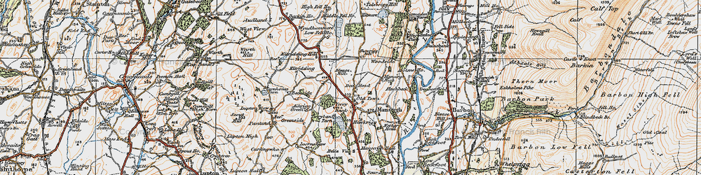Old map of Wyndhammere in 1925