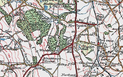 Old map of Old Tupton in 1923
