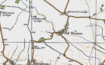 Old map of Old Weston in 1920