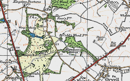 Old map of Wimpole Way in 1920