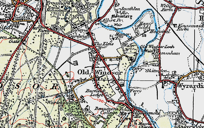 Old map of Albert Br in 1920