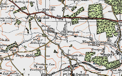 Old map of Wingate Ho in 1925