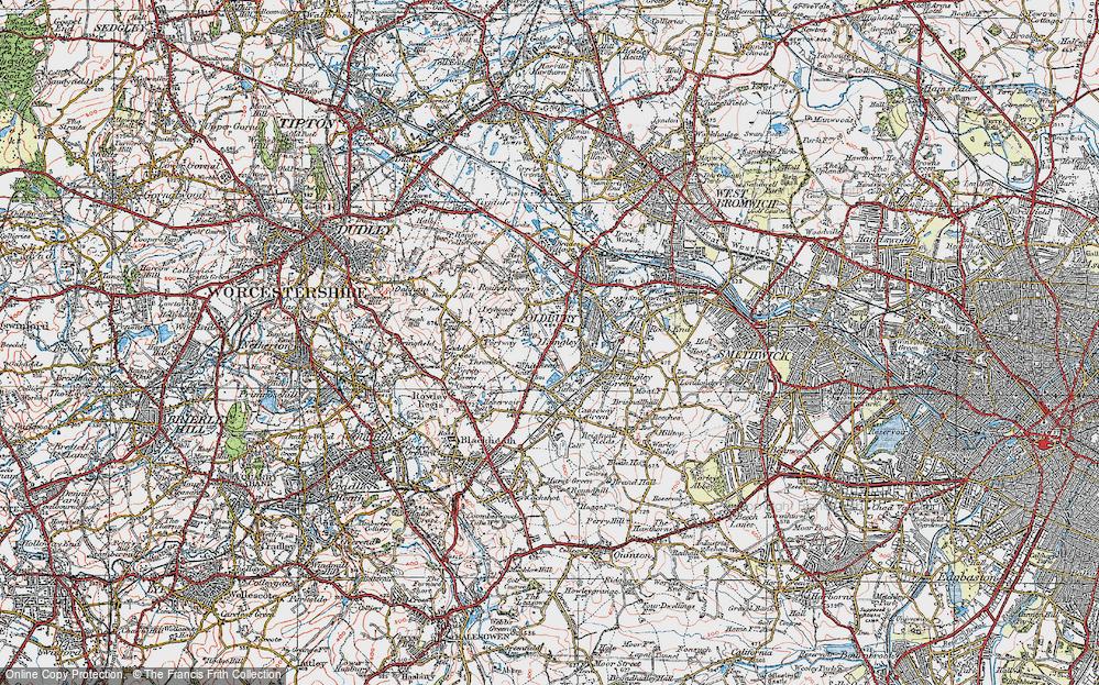 Old Map of Oldbury, 1921 in 1921