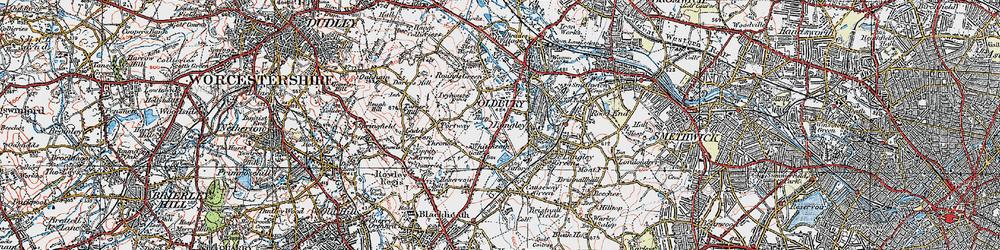 Old map of Oldbury in 1921