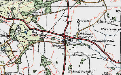 Old map of Whitewater Common in 1923