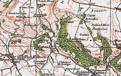 Old map of Sutton Bank in 1925