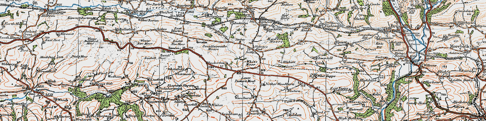 Old map of Allshire in 1919