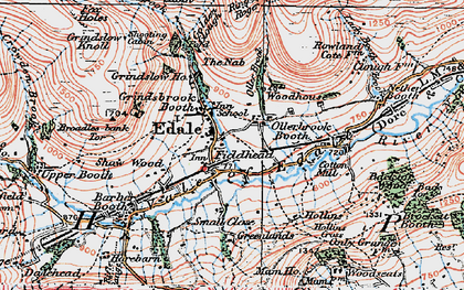 Old map of Ollerbrook Booth in 1923