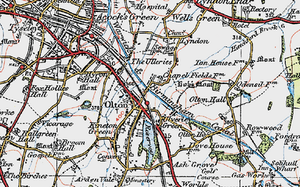 Old map of Olton in 1921