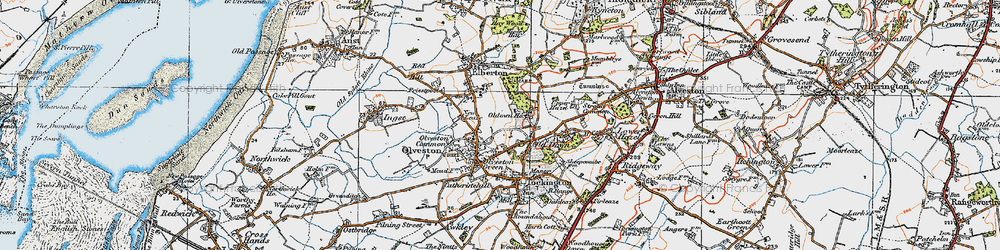 Old map of Olveston in 1919