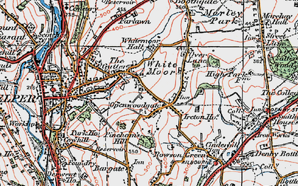 Old map of Openwoodgate in 1921