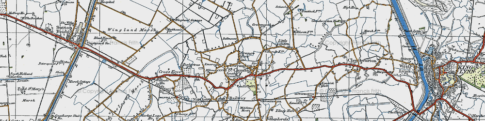 Old map of Alma Lodge in 1922